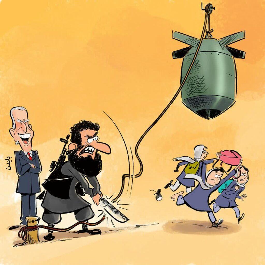 نسل کشی غرب کابل  1024x1024 - کاریکاتور/ پشت پرده نسل کشی در غرب کابل