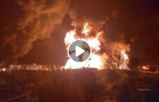 ویدیو آتش تانک تیل شکردره کابل 226x145 - ویدیو/ لحظه آتش گرفتن یک تانک تیل در ولسوالی شکردرۀ کابل