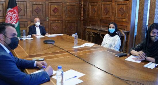 اشرف غنی کنفرانس بین المللی دیاسپورای افغان 550x295 - سخنرانی رییس جمهور غنی در کنفرانس بین المللی دیاسپورای افغان