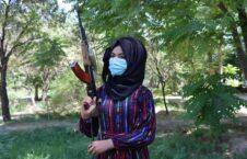 خوشینه 226x145 - تصویر/ عزم دختر شجاع جوزجانی برای مبارزه با طالبان