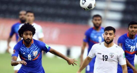 فوتبال افغانستان هند 550x295 - تساوی تیم ملی فوتبال برابر هند در ادامه رقابت های مقدماتی جام جهانی