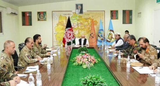 اشرف غنی جلسه ارشد امنیتی 550x295 - برگزاری جلسه ارشد امنیتی به ریاست رئیس جمهور غنی