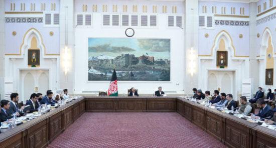 اشرف غنی شورای عالی اقتصادی 550x295 - برگزاری جلسه شورای عالی اقتصادی در ارگ ریاست ریاست جمهوری