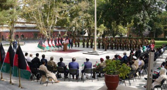 اشرف غنی گرامیداشت از روز بیرق ملی 550x295 - سخنرانی رییس جمهور در مراسم گرامیداشت از روز بیرق ملی