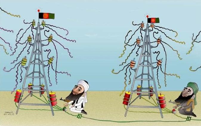 برق طالبان - کاریکاتور/ دشمنی با دولت یا ملت؟