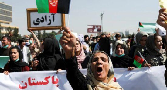 تظاهرات 550x295 - اعلامیۀ وزارت داخلۀ طالبان درباره ممنوعیت راهاندازی تظاهرات در کشور