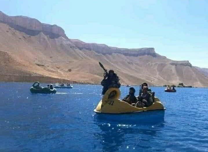 مانور دریایی طالبان 1 - تصاویر/ مانور نیروهای دریایی طالبان