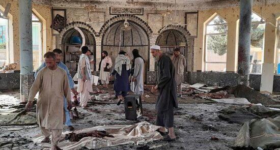 مسجد کندز داعش 550x295 - واکنشها به جنایت هولناک گروه تروریستی داعش در کندز