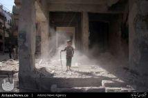 شهر دوما در حومه شرقی شهر دمشق سوریه